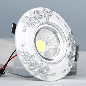 领冠照明 SG-09-Y(银白)树脂手工雕塑天花灯