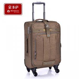 行李密码箱万向轮 蒙多萨海关锁尼龙休闲旅行拉杆箱万向轮
