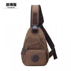 瀚博斯  帆布胸包 韩版休闲包单肩斜挎包 潮小包 跑步运动包 骑行包 HBS9001
