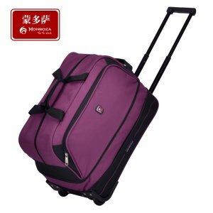 19寸紫色拉杆旅行袋 可伸缩大容量拉杆箱旅行袋