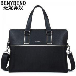 2016新款男士手提包包横款牛津布商务公文包简约双层拉链袋2412-1