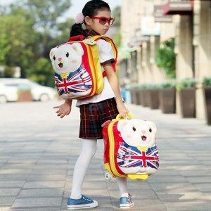 European Ralli/欧拉利 15寸儿童学生拉baibai熊 双肩背包