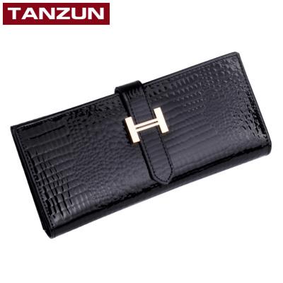 TANZUN/天尊 2016新款欧美鳄鱼纹牛皮女士钱包  9071