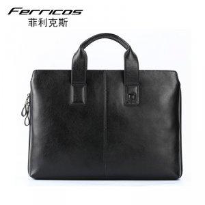 菲利克斯男包意大利商务男士手提包单肩包斜挎包纯手工公文包正品 FE67975-1