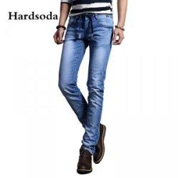 Hardsoda 新款修身窄脚时尚洗水牛仔裤 861507