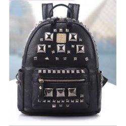2014新款时尚女包包 欧美复古潮摇滚亮片铆钉双肩包背包工厂直销H142
