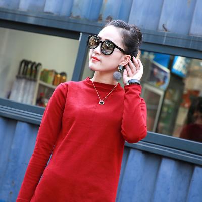 格姿恋 秋冬新款韩版毛衣薄针织衫中长款针织连衣裙 8897