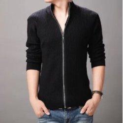 比天尼 冬装新款半高拉链秋冬开衫青春流行长袖韩版线衣