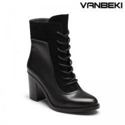 "梵贝琦 <span class=""gcolor"">高跟</span>女式系带靴鞋 F5010"