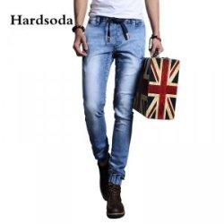 Hardsoda 新款中腰直筒修身收脚牛仔裤861508