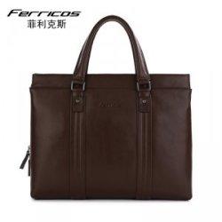 菲利克斯新款商务男包时尚潮流电脑包男士单肩包休闲公文包纯手工 60006-2