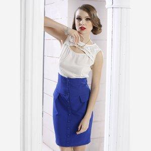 苑丽影儿 新款夏装欧美女装高档气质高腰裙 142Q0018