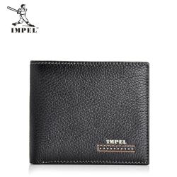 IMPEL 简约商务头层牛皮男士短款钱包 Hs(200b)A27