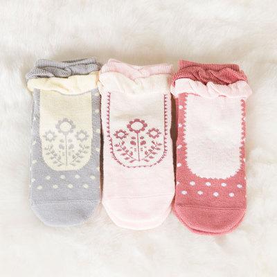 上品婴 花边童袜(3双)1-3岁