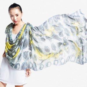 再艺术 李纲艺术衍生品羊毛丝巾 YM1504HH21