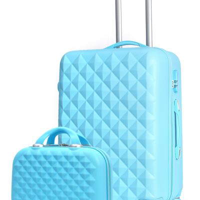 时尚钻石纹子母套装旅行行李拉杆箱 化妆箱 ZS002