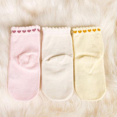 上品婴小爱心童袜(3双)1-3岁 混色发