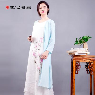 衣心衫藏 休闲中国风棉麻长袖披衫 16CW02037