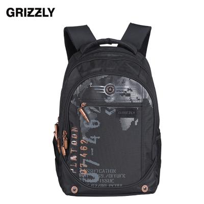 【GRIZZLY】2016新款青年休闲包大容量防泼水男士旅行双肩背包超轻减震背包潮 RU-501-1