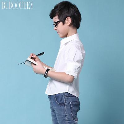 BUBOOFEEY 男童时尚翻领长袖衬衫 30015