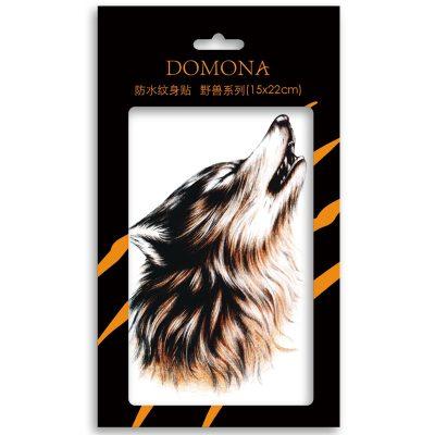 多美娜防水纹身贴 仿真纹身 野兽系列 3张