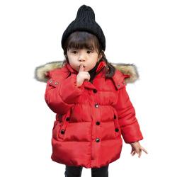 HCBLGD06001 小童棉衣 一件代发童装女童2017新款冬装小童加厚棉服男宝宝羽绒棉棉衣棉袄