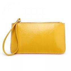 新款油皮手拿包 糖果色手机零钱包 活动款包包JY818