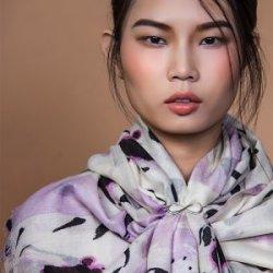 再艺术 李纲艺术衍生品羊毛丝巾 YM1504BH18