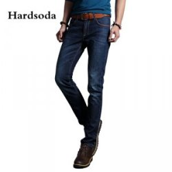 Hardsoda 新款弹力水洗修身直筒牛仔裤861502