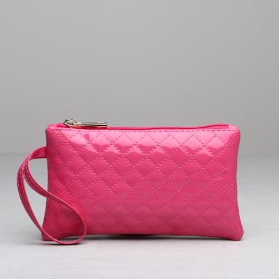 小包批发2016新款女包 高档PU菱格包包手机包