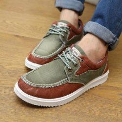 拼色休闲男鞋 韩版潮流低帮透气男士帆布鞋男板鞋子