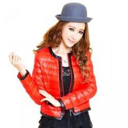 厂家供应短款韩版时尚羽绒服女特价反季连帽修身拉链开衫外套