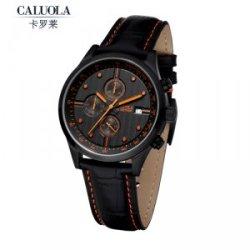 正品卡罗莱 皮带男士手表运动男表防水黑色时尚六针石英表CA1044