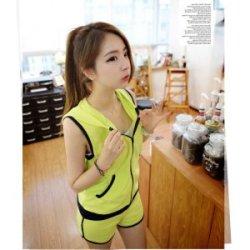 夏季新款 韩版亮色无袖运动套装9793