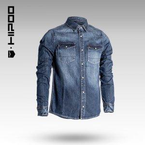 新款男士长袖衬衫 欧美风修身长袖牛仔衬衫 1134209