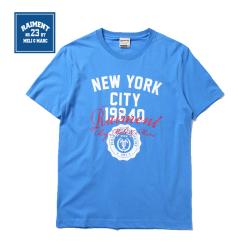 """男装学院风字母<span class=""""gcolor"""">短袖t恤</span>16夏装原创设计短袖潮流休闲青春男士上衣"""