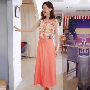 巴蓓尔 时尚连衣长裙衣 3070