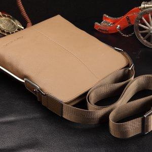 【菲利克斯】头层牛皮斜跨包商务男士包包真皮包包休闲包 FE60004-3