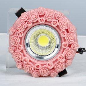 欧式树脂手工雕塑LED天花灯嵌入式 3w大功率客厅厨房射灯特价