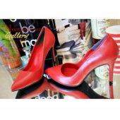 新款女鞋红色高跟鞋尖头细跟真皮内里单鞋红婚鞋新娘鞋