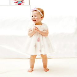 "Small cuttlefish 婴儿<span class=""gcolor"">礼服</span>纯棉长袖公主裙子 16019"