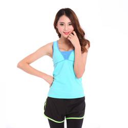 芳宁 韩版无袖瑜伽服专业健身运动服女上衣 1518