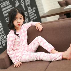 CXTZD01202 内衣套装 一件代发儿童保暖内衣套装女童加绒内衣套装花色卡通加厚秋衣秋裤
