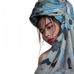 再艺术 李纲艺术衍生品羊毛丝巾 YM1412LB03