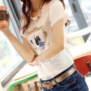 金丽都韩版夏装短袖圆领T恤33072