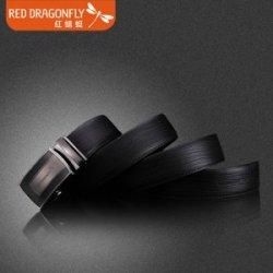 红蜻蜓2016新款黑色男士商务自动扣皮带高端压纹牛皮带身包邮腰带