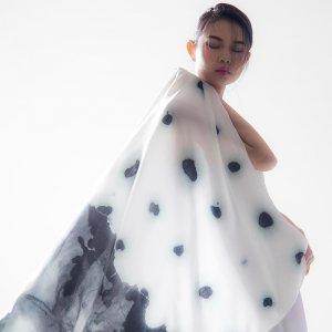 再艺术 李纲艺术衍生品羊毛丝巾 YM1501HB07