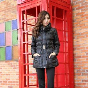 【桦装】时尚简约棉衣外套收腰修身款 6195H