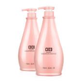 正品 COCO香型去油止脱去屑 止痒控油洗发水洗发乳+滋润发膜套装750Ml 包邮