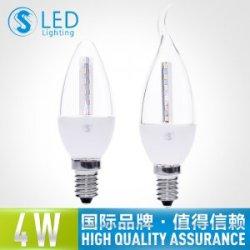 S3S 超高亮LED尖泡 航空铝质E14小螺口拉尾蜡烛泡吊灯节能灯泡4W
